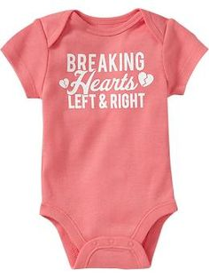 Graphic Cap-Sleeve Bodysuits for Baby | Old Navy