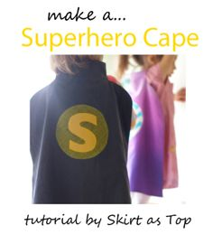 Make a an easy-sew superhero cape … because every kid needs 1 … or 3! #sewing #kids #costumes #DIY #crafts From Go To Sew.