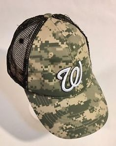 e9225b21317 Washington Senators Camo MLB Natstown BallCap Hat Embroidered Adjustable