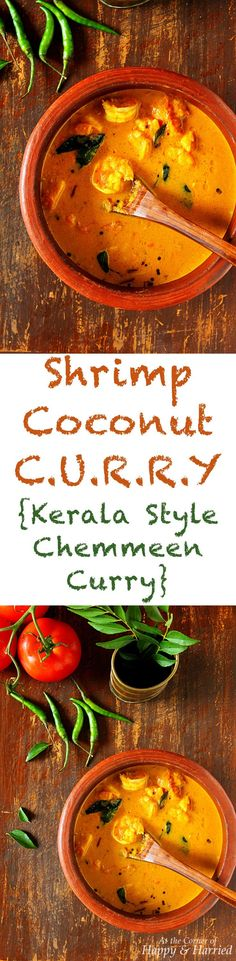 A toothsome shrimp curry made with a spicy coconut sauce, straight from the land of coconuts and seafood, Kerala. Enjoy this delicious shrimp or prawns curry with rice and your favorite vegetables. Curry Shrimp, Fish Curry, Easy Indian Curries, Easy Indian Recipes, Coconut Sauce, Coconut Curry, Prawns Roast, East Indian Food
