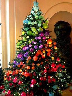 Rainbow Christmas Tree...makes my art loving self happy
