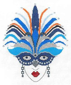 Sapphire Cross Stitch Kit by Heather Anne Designs for Classic Embroidery