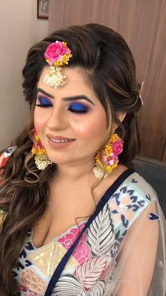 Bridal Makeup Videos, Bridal Makeup Images, Best Bridal Makeup, Bridal Makeup Looks, Bridal Hair And Makeup, Bride Makeup, Bridal Mehndi Dresses, Bridal Outfits, Indian Wedding Video