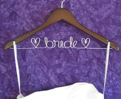 Diy wedding dress hanger pics weddings do it yourself sale personalized bride hanger unique bridal by chipperdesigns 2200 solutioingenieria Images