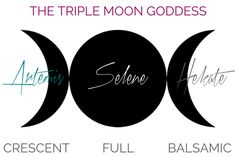 The Triple Moon Goddesses - Artemis, Selene, Hekate Greek Mythology Gods, Greek Gods And Goddesses, Selene Greek Mythology, Celtic Mythology, Artemis Goddess, Goddess Art, Goddess Names, Triple Moon Goddess, Moon Symbols