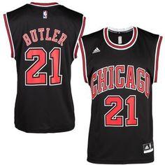 #21 Butler Chicago Bulls jersey black (Heat applied)