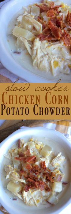 Slow Cooker Chicken Corn Potato Chowder - Together as Family