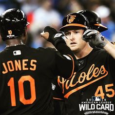 Mark Trumbo led @MLB in home runs.  He ain't stopping now. #WildCard