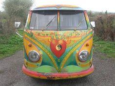 1956 hippie painted VW Panel Van For Sale