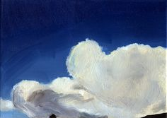 Cloud and territory #2  - Oil on canvas 15x21cm. Rafael Guerrero