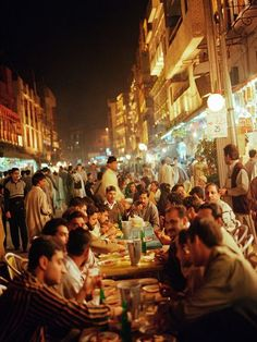 Food Street Lahore. Pakistan. Dozens of restaurants along the narrow street serve popular specialties like fried fish and chargha, a type of roast chicken.
