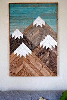 Wood Wall Art Wooden Wall Art Geometric Wood Art Wooden #WoodworkingProjectsBeginner