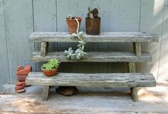 Driftwood plant stands from Etsey