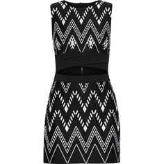 DKNY Cutout embroidered cotton-blend mini dress ($215) ❤ liked on Polyvore featuring dresses, vestidos, short dresses, dkny, black, dkny dresses, cut out dresses and zipper dress