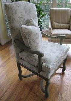 Chair in Chateau Grey~Annie Sloan Chalk Paint Project