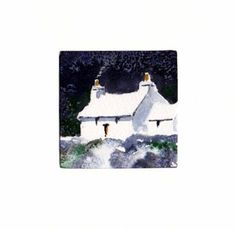 Hand Painted Card - Welsh cottage a5 by WendyPowellJonesArt on Etsy