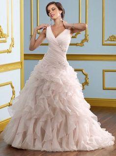 2013 Robe de mariée rose pâle