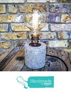 Handmade Hypertufa Table Lamp by MooBoo Home from MooBoo Home https://www.amazon.co.uk/dp/B01LX6KGWJ/ref=hnd_sw_r_pi_dp_ADP5xbTR4TP13 #handmadeatamazon