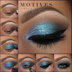Gorgeous Makeup: Tips and Tricks With Eye Makeup and Eyeshadow – Makeup Design Ideas Blue Eyeshadow, Eyeshadow Makeup, Eyeshadows, Motives Makeup, Blaues Make-up, Eye Base, Make Up Anleitung, Eye Makeup Steps, Beauty Makeup
