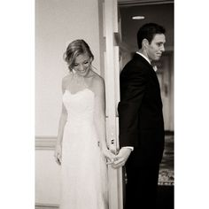 I LOVE this idea! I'm all for being traditional and not seeing each other the night before/day of the wedding, but I do love the idea of giving each other a letter/note before hand. So sweet to hold hands on opposite sides of the door, and read the letters xox