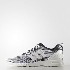 reputable site a649e 321e8 Zebra Print ZX Flux Smooth Shoes - Blue Zebras, Adidas Zx Flux, Adidas Shoes