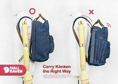 carry kanken the right way (kanken laptop 17inch)