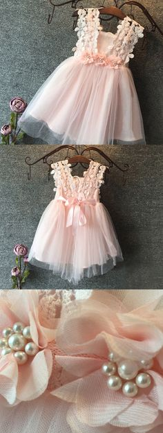 Sweet Flower Girls Dresses with Applique Flowers belt with big Pearl Beads, Lace Uppers, Bow backs and layers Tulle skirts. Flor small Bridesmaids and flowergirls. Easter wedding dress ideas and inspiration. Made in the UK. Ebay Finds. Spring Summer Baby Pink dresses. #weddings #easter #easterwedding #tulledress #tulleskirts #flowergirls #bridesmaids #weddinginspo #promotion #handmadeisbest #shopsmall #ebayfinds