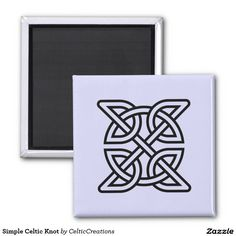 Simple Celtic Knot 2 Inch Round Magnet