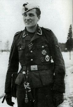 Waffen SS 20th division. *Note his SS dagger & various combat medals.