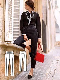 High Waist Trousers 02/2016 #114 http://www.burdastyle.com/pattern_store/patterns/high-waist-trousers-022016?utm_source=burdastyle.com&utm_medium=referral&utm_campaign=bs-tta-bl-160125-SpanishStreetsCollection114