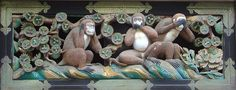 Three wise monkeys - Nikko, Tokyo