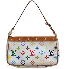 Louis Vuitton Multicolore White Pochette Bag