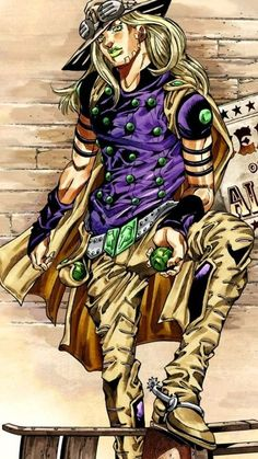 [Steel Ball Run] Gyro Zeppeli. official art by Hirohiko Araki. Jojo's Bizarre Adventure, Jojo's Adventure, Manga Art, Manga Anime, Anime Art, Bizarre Art, Jojo Bizarre, Johnny Joestar, Jojo Parts