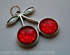 Lakierowa biżuteria - wisienki