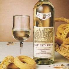 Lazio - Est! Est!! Est!!! D.O.C. di Montefiascone.  A wonderful, light, lightly acidic white wine.  So right with so many foods!