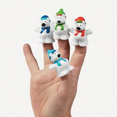 Make story time even more fun with these Polar Bear Finger Puppets. Put a polar bear on each finger and have them 'tell' a holiday story. Stuff some polar bear finger puppets into Christmas stockings too! dozen per unit) 1 © OTC Bear Birthday, 1st Birthday Parties, Birthday Ideas, Frozen Birthday, 7th Birthday, Hand Puppets, Finger Puppets, Hermey The Elf, Polar Bear Party