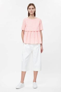 COS image 1 of Box-fit layer top in Powder Pink