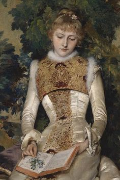 Gabriel Schachinger, Forget me not, 1886 Woman Reading, Classical Art, Portrait Art, Beautiful Paintings, Fashion History, Great Artists, Female Art, Painting & Drawing, Art History