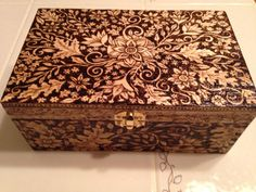 Catching The Wind Woodburned Box by WildwoodCharm on Etsy