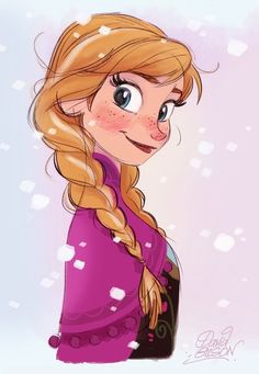 Anna - Frozen | Disney Hope I have daughters that look like this one day <3