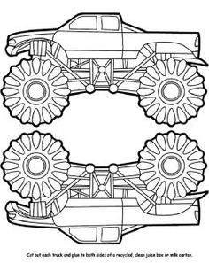 free down loads free monster trucks coloring pictures and boys truck coloring pages - Free Monster Truck Coloring Pages