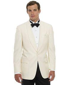 The Grooms: Brat Pack dinner jackets via Brooks Brothers