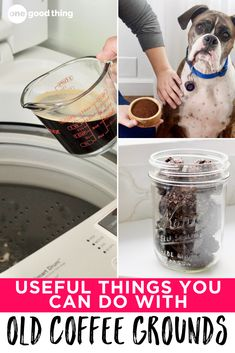 Who knew that there were so many useful and practical things you could do with old coffee grounds?! That leftover brown gunk is actually handy for many things! Uses For Coffee Grounds, New Uses, Brown, Cleaning Hacks, Household, Gardening, Canning, Lawn And Garden, Brown Colors