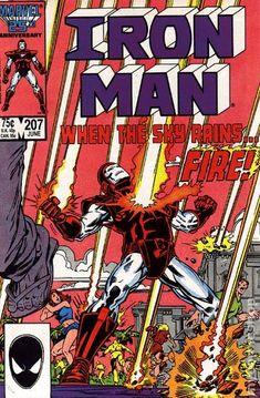 Cover for Iron Man June 1986 Marvel Marvel Comics Superheroes, Marvel Comic Books, Comic Books Art, Comic Art, Book Art, Marvel Vs, Tony Stark, Caricature, Iron Man Comic Books
