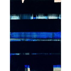 Pierre Soulages - Abstract Art - Informal Painting - Gouache sur papier marouflé sur toile, 1973
