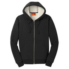 6f1d5d0ff Cornerstone Men s Black Heavyweight Sherpa-Lined Hooded Fleece Jacket