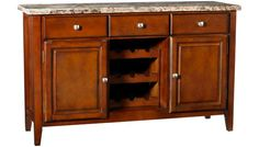 Crown Mark - - Sideboard w/Marble Top - Sideboards, Servers and Buffets in MA, NH and RI at Jordan's