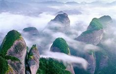 The high mountains in the North Korea.