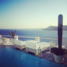 View from the pool at Greco Philia #Mykonos http://www.ilovetravelling.fr