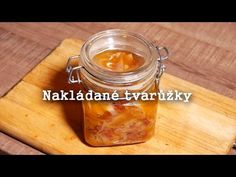 Nakládané tvarůžky - Smradlavá delikatesa - YouTube Feta, Salsa, Good Food, Jar, Cooking, Desserts, Recipes, Youtube, Simple